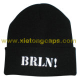 Fashion Warm Embroidered Flange Hat