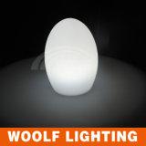 Restaurant Egg Shape Light up Glow LED Table Lamp