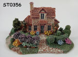 Fairy Garden Miniature Villa House Micro Landscape Ornament Decor Figurine Polyresin Craft