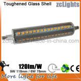 CRI80 9W 118mm R7s LED Linear Lamp 9W LED R7s 118mm for Replacing 300W Halogen R7s