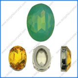 Green Opal Oval Crystal Stones Beads Jewelry