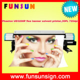 720 Dpi Phaeton Ud3208p Flex Banner Printer for Outdoor Large Size Printing (3.2m/10FT, CMYK 4 colors, 4 or 8 SPT 510/35PL heads)