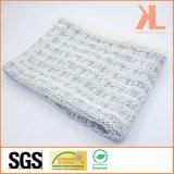 Acrylic Gray Iceland-Yarn & Lambwool Knitted Neck Scarf