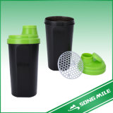 500ml Hot Sale PP Color Customized Shake Bottle with Strainer