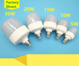 5W/10W/15W/20W/30W Plastic Aluminum LED Lamp with E27/B22