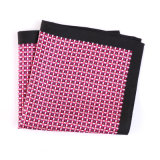Luxury Silk Polyester Dots Printed Pocket Square Hanky Handkerchief (SH-049A)