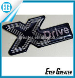 Custom Made Domed Labels Doming Sticker Chrome Epoxy 3D Die Cut Domed Label