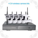 960p 4CH Wireless CCTV Camera Systems with 3tb Hard Drive P2p WiFi Security Alarm NVR Kit for Indoor Outdoor