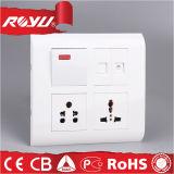 Multifunctional 3-Gang Socket Outlet, Indoor Household Multi Purpose Socket