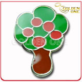 Customized Colorful Soft Enamel Tree Shape Pin Badge