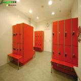 Jialifu Electronic Lock Red HPL Locker with Bench
