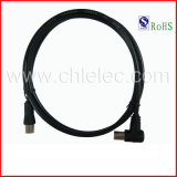 OEM Hot Sale High Quality High Speed 5mm 6mm 7mm 3c2V Angle TV a/V Audio Video Cable with RoHS (SY074)