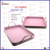 Rectangle Useful Simple Easy Carried Pink Tray (5289R5)
