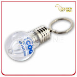 Creative Design Silk Screen Bulb Shape Metal Keychain