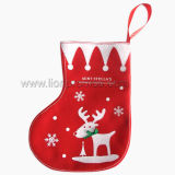 Cusom Logo Printing Plush Christmas Gift Stocking