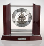 Classic Wooden Mantel Table Clock with Mechanical Movements