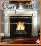 Marble Fireplace Mantel Granite Fireplace Surround for Home Decoration