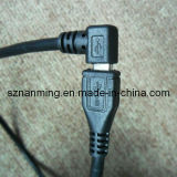 Right Angle Micro USB Male to USB Female Extension Cable