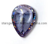 Diamond Cut Pear Shape Synthetic Gemstone Cubic Zirconia