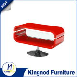 Bending Wood Glass TV Cabinet Furniture