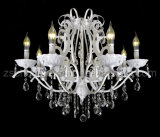 Decorative White Ceiling Lighting Ctystal Chandelier (8018-3)