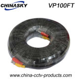 100ft Pre-Made Siamese Power and Video CCTV Cable (VP100FT)