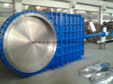 Flanged Non Rising Stem Gear Knife Gate Valve