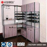Modern Design Wine Storage Epoxy Steel-Wooden Furniture