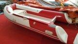 3.6m 11.8FT Rib360c Recsue Boat with Hypalon Fiberglass Hull Rigid Inflatable Boat Hot Sale