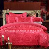 Wholesale 100% Cotton Luxurious Satin Jacquard Wedding Bed Set