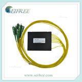 1X8 Planar Lightwave Circuits Splitter PLC Splitter with Plastic Box