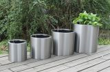 Stainless Steel Self-Watering Planter (FO-9064)