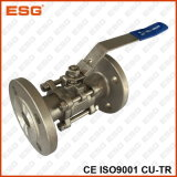 3-PC Stainless Steel Flanged Ball Valve