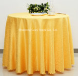 Wholesale Order Hotel Restaurant Banquet Party Polyester Plain Jacquard Tablecloth