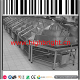 Stainless Steel Double Sided Supermarket Vegetable Display Shelf
