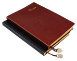 Personal Leather Working Diary with Bookmark