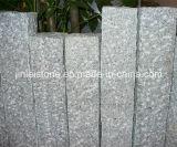 G603, Grey Granite, Pineappled Natural Splited Bushharmmered Granite Palisade Kerbstone