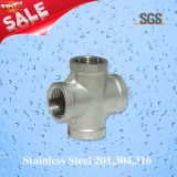 Stainless Steel Casting Straight Cross, Pipe Fittings Cross