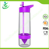 650ml Tritan Fruit Lemon Water Bottle with Straw