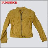 Popular Women PU Jacket with Fashion Style