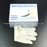 Powder Free or Powdered Medicial Latex Examination Gloves with CE ISO