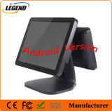 Android Version 15 Inch+12 Inch Touch Screen Double Display Supermarket POS Machine