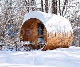 Red Cedar Wood Barrel Sauna Outdoor Sauna House 20 Years Factory