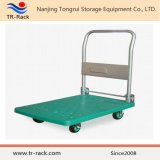Medium Duty Plastic Platform Hand Truck Folding Noiseless Trolley