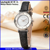 Fashion Casual Leather Strap Quartz Ladies Custom Wristwatch (Wy-094A)