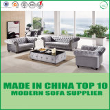 Modern Chesterfield Modular Leather Sofa with Button