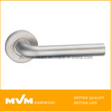 Stainless Steel Door Handle on Rose (S1039)