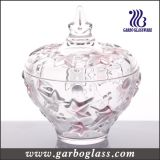 Spray Color Red Maple Leaf Glass Jar (GB1806FY/PDS)