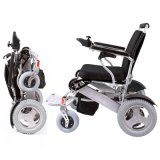 Aluminum Alloy Folding Electric Motor Wheelchair with Lithium Battery