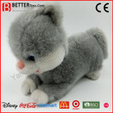 En71 Realistic Stuffed Animal Plush Toy Grey Cat